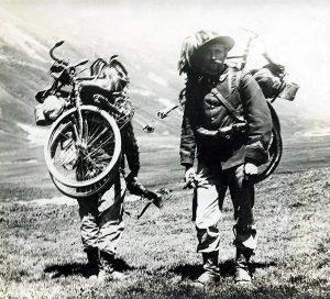 Vélo pliant durant la guerre